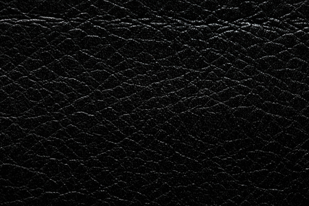 Simple black dermatin background. High resolution photo. Stock Photo
