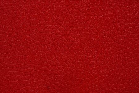 Leatherette texture in superior red tone. Stock Photo - 128125942