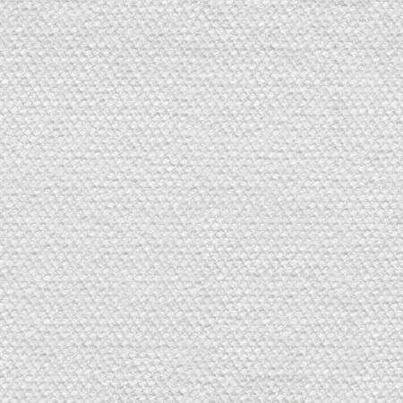 Üblicher klassischer Textilhintergrund im Weißton. Nahtlose quadratische Textur, Fliese bereit.