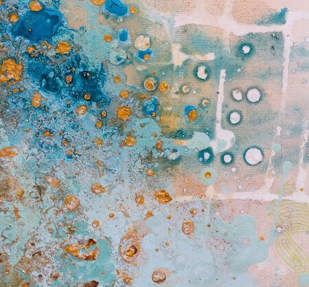 Amazing painting texture in gentle tone.