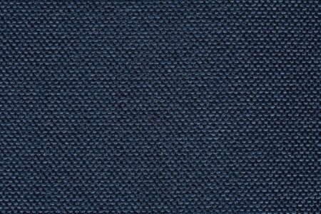 Precise fabric texture in dark blue colour. High resolution photo.