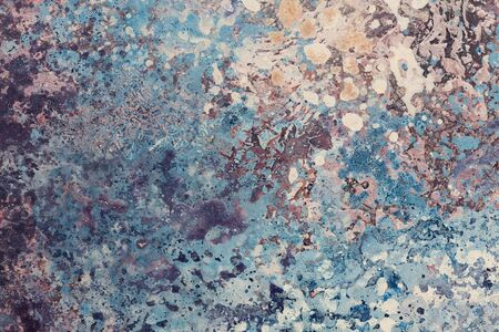 Elegant abstract painting in blue tone for your interior. High resolution photo.
