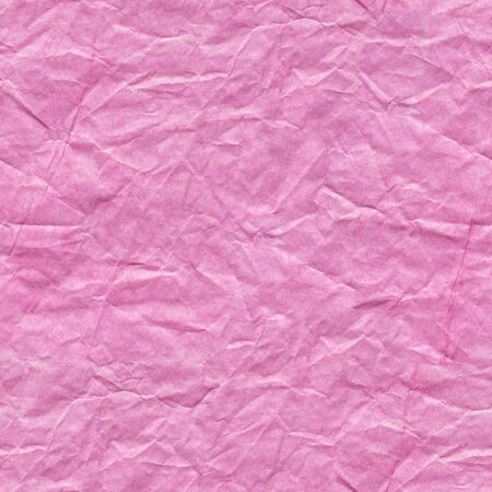 Crumpled paper texture in new pink color as part of your greeting card. Seamless texture.