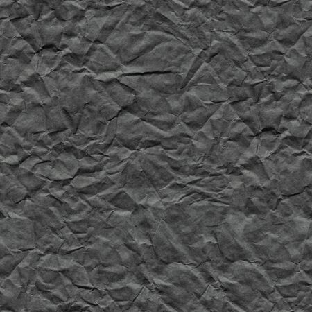 Crumpled paper background in stylish metalic grey color for unique holiday gift. Seamless texture.