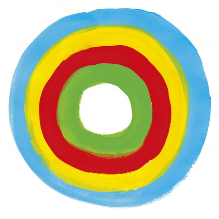 Hoop pomalowane niebieską farbą