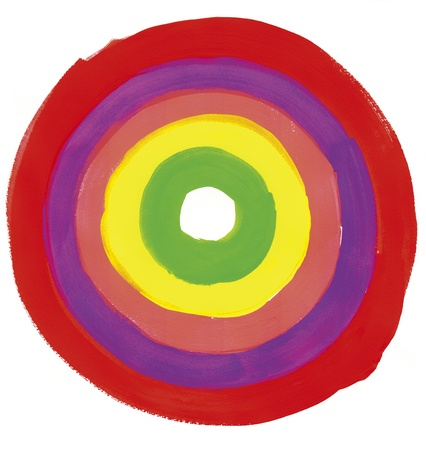 Hoop malowane czerwoną farbą