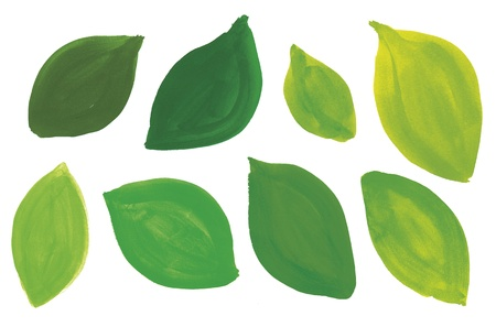 Leaves painted in a variety of colors