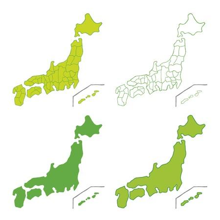 Carte manuscrite du Japon