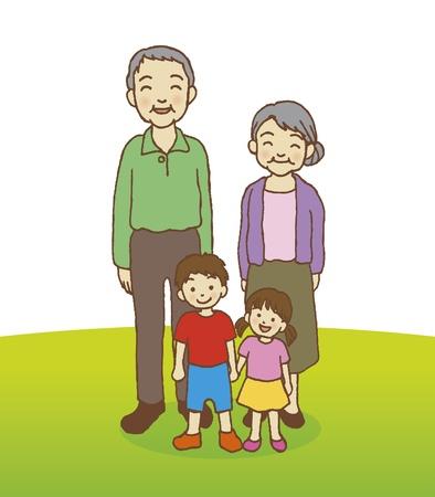 Happy Family en Asie Illustration