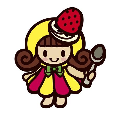 Cute girl comme des bonbons