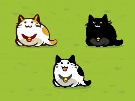 Chat de trois chats Illustration