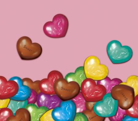 Chocolate piled up