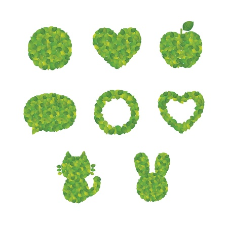Cute icon made by leaf