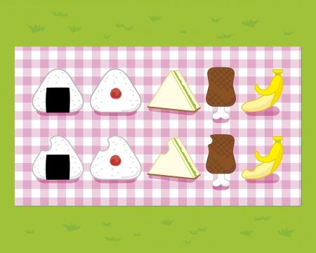 Japanese picnic Illustration