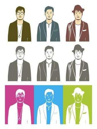 Illustration of male Asian