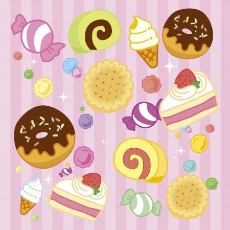 christmas cake: Illustration of candy