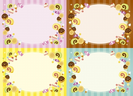 Frame of candy Vector