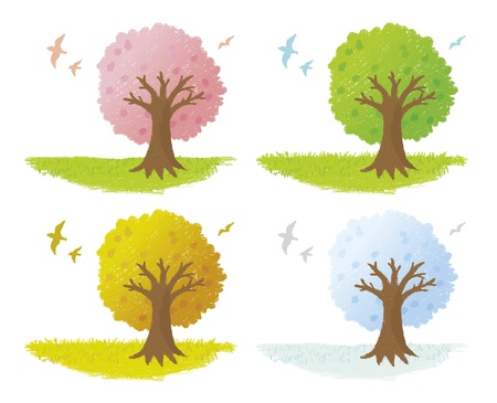 Thurs of the four seasons Illustration