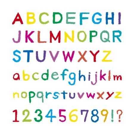 Font was drawn with a crayon