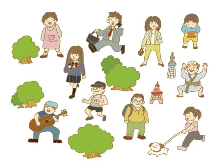 Life of various people Illustration