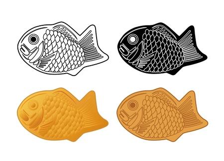 Japon souhaitez graver quatre types de Illustration