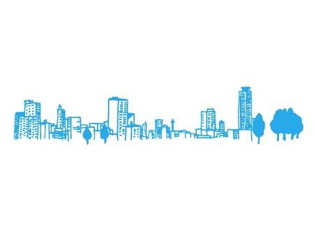 都市のイラストレーション  イラスト・ベクター素材