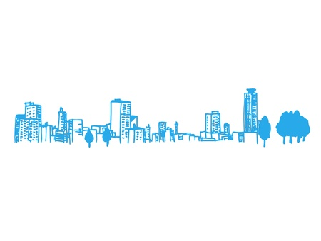 llustration van de stad