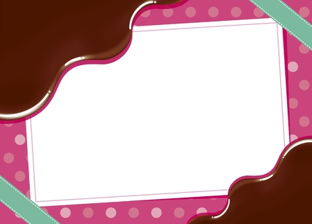 Cute frame of chocolate Illustration