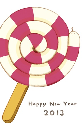 Greeting card and candy snake