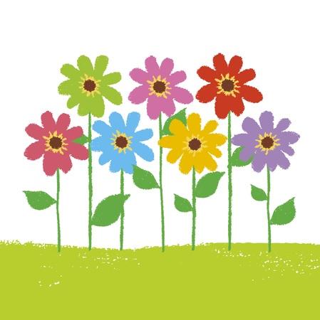 Jardin fleuri multicolore