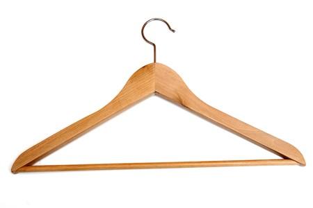 clothe: Clothes hanger on white Stock Photo