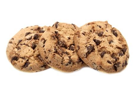 Cookies on white Stock Photo