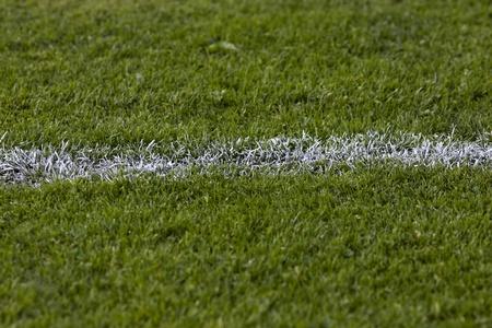 goalpost: football grass Stock Photo