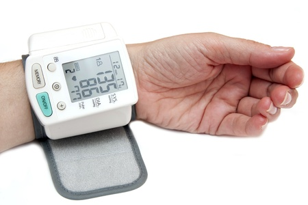 hypertensive: high blood pressure Stock Photo