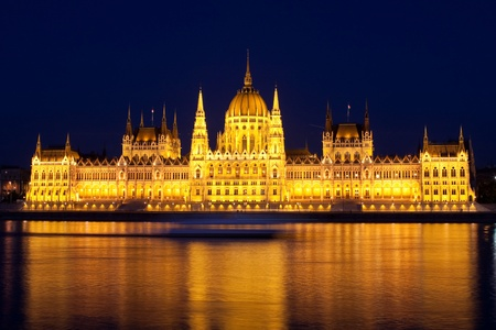 Parliament of Hungary in Budapest photo