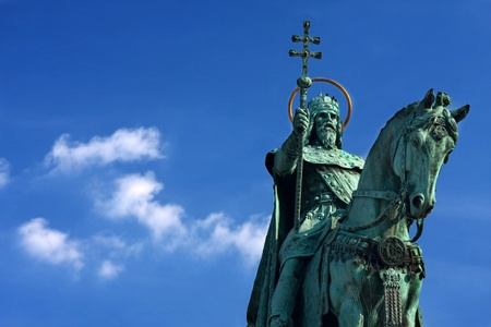 stephen: Santo Stefano Monumento a Budapest Archivio Fotografico