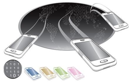 mobile world  Vector
