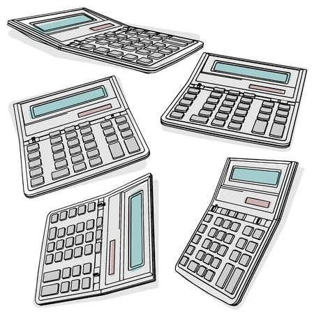 calculators set vector eps Stock Vector - 10119314