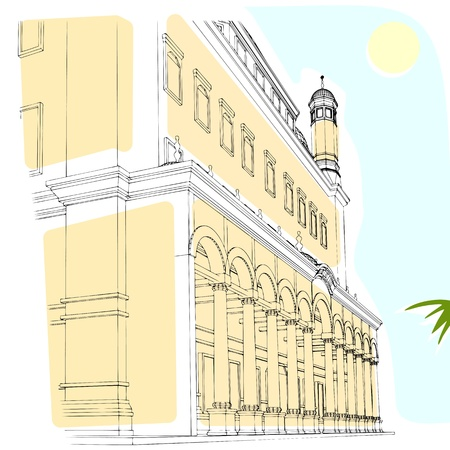 old building vector eps