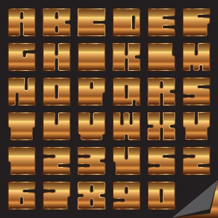 golden font vector eps Stock Vector - 10119307