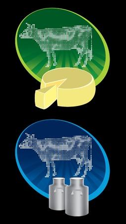 Cow label vector eps