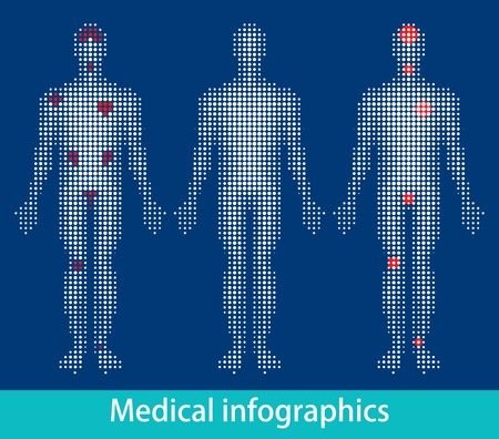 Medical info-graphics vector eps Vector