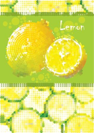 Fresh lemon menu vector eps Illustration