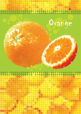 fresh orange menu vector eps Illustration