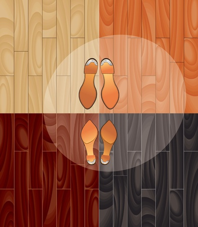 parquet and shoes vector eps