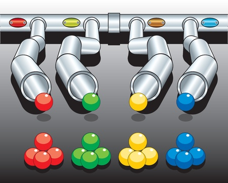 diagram with pipes vector eps
