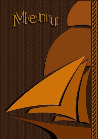 Ship menu vector eps Illustration