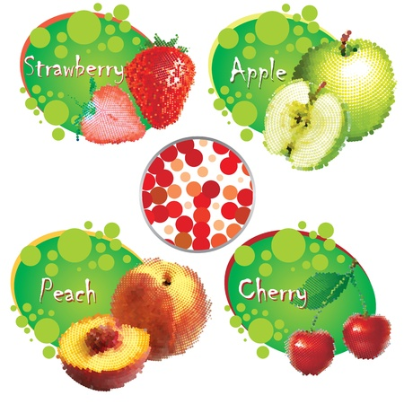 summer fruit  vector eps Vector