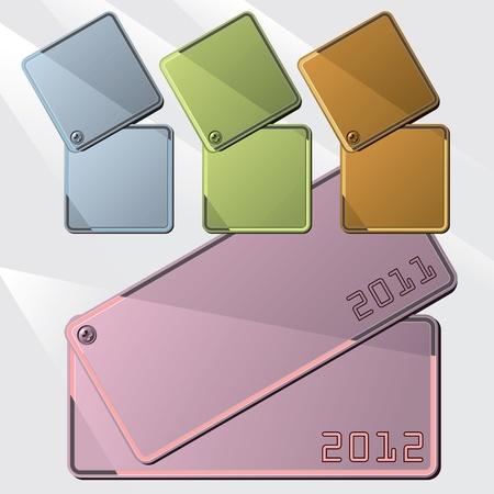 metal plates Stock Vector - 11281967