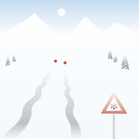 skidding: skidding tire track